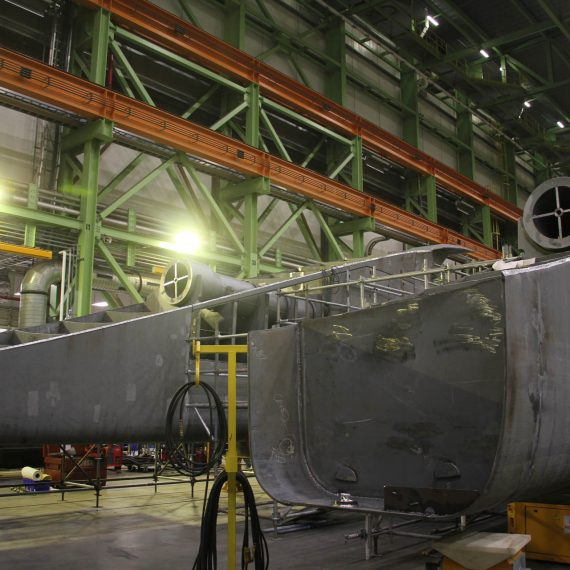 Skegs are the tapering or projecting stern section of a vessel's keel, which protects the propeller and supports the rudder.