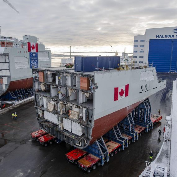 Future HMCS Max Bernays - Mega Block Move for Canada's 3rd Arctic and Offshore Patrol Ship