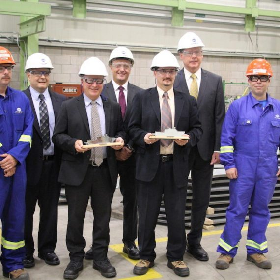 Legacy of Royal Canadian Navy veteran was honoured as steel cutting for the second Arctic and Offshore Patrol Ship (AOPS), the future HMCS Margaret Brooke, commenced.